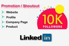I will share your Website / Blog / LinkedIn Post / Product / or Content with my 10K+ Followers to give it more exposure and engagement. I have 10K+ connections on my Profile and growing day by day.  Most of the connections are form USA, UK, Australia and European Countries.  Connections are of the following Titles CEO's Managers Marketing Executives Owners / Founders Sales Persons   If you are looking for any specific areas or types of peoples to promote you can ask me, I will suggest you… Email Marketing, Content Marketing, Internet Marketing, Social Media Marketing, Digital Marketing, European Countries, Influencer Marketing, Business Branding, Promotion