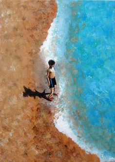 Jacqueline Hammond 'A Little Piece of the Beach - Little Boy' Limited Edition Print 17.5 x 12cm £25 info@jacquelinehammond.co.uk