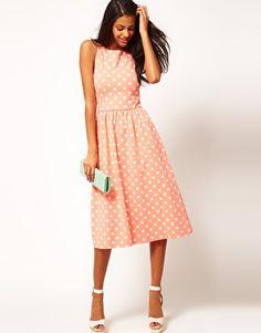ASOS Midi Dress In Spot Print