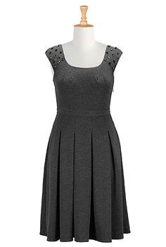 Paillette studded ponte dress