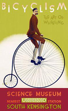 Bicyclism. 'The Art of Wheeling' Vintage London Underground poster http://www.vintagevenus.com.au/products/vintage_poster_print-tr450