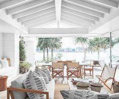 Practicality, calmness and an affinity for neutrals underpin the chic aesthetic of this coastal holiday house that offers a resort-style ambience for several generations of one family. Coastal Style, Coastal Decor, Modern Coastal, Bahamas House, Bahamas Beach, Australian Homes, Australian Beach, Indoor Outdoor Living, Outdoor Spaces