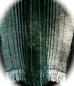 HandWoven Chenille Scarf in Spinach & Sage