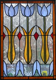 "tulip window - Custom Order  23"" x 31"""