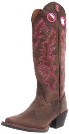 Tony Lama Women's Choc. Buckaroo RR2008L Boot,Chocolate Yukon,8 B US Tony Lama Boots,http://www.amazon.com/dp/B002L4NPFK/ref=cm_sw_r_pi_dp_p5dRsb10CRZ1VEHA Womens Cowgirl Boots, Western Boots, Country Boots, Western Wear, Buckaroo Boots, Tony Lama Boots, Cool Boots, Women's Boots, Mid Calf Boots