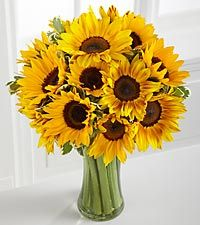 Endless Summer Sunflower Bouquet - 15 Stems - VASE INCLUDED