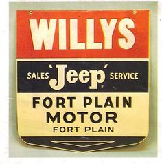 Vintage Gas Station Signs | Vintage Gas Station Signs 1950s Willys Service Sign 3 Photo Magnets ...