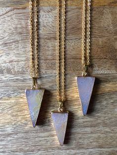 Agate Triangle Necklace by TheGreatandPowerful on Etsy https://www.etsy.com/listing/213895464/agate-triangle-necklace