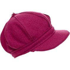 Backstage Pop Wool Peak Cap ($37) ❤ liked on Polyvore featuring accessories, hats, sombreros, women, woolen caps, apple cap, wool newsboy cap, baker boy and peak cap