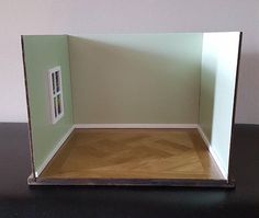 1:12 scale Room Box/ Doll Room Box/ Diorama Box/ unique slotted room box/ 2 or 3 wall box/ miniature diorama/ empty room box/ doll house