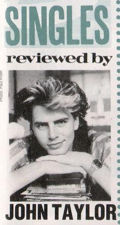 "cantslowdown1984: "" John Taylor reviews some singles. Smash Hits, June 21, 1984. """