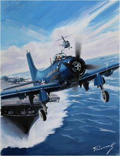 Douglas A-1 Skyraider de la Navy. Luccio Perinotto. Más en www.elgrancapitan.org/foro