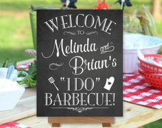 I Do Barbecue BBQ Sign Welcome Printable by PrintablePixels