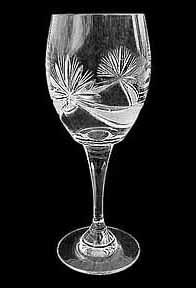 "Czech crystal wine glasses ""Moonline"""