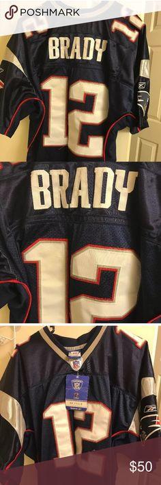 Tom Brady jersey still with tags #12 Tom Brady jersey still with tags Reebok Shirts