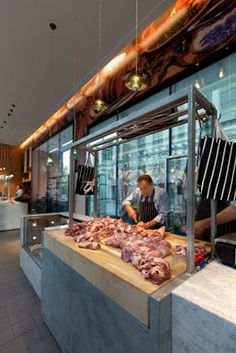 Butcher store, local butcher shop, restaurant concept, restaurant design, m Meat Restaurant, Restaurant Marketing, Restaurant Concept, Restaurant Design, Butcher Restaurant, Butcher Store, Local Butcher Shop, Carnicerias Ideas, Meat Store