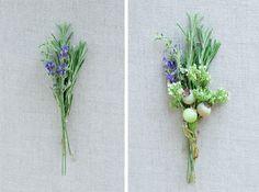 Herbal DIY boutineer