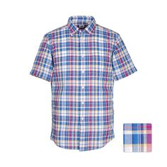 UNIQLO COTTON LINEN MADRAS CHECK S/S SHIRT