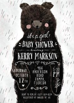 The Cutest Bear Cub Baby Shower Theme from Cass Loh at Minted