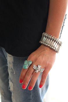 Weit verknüpften versilbert Boho Armband von handmadebyinali
