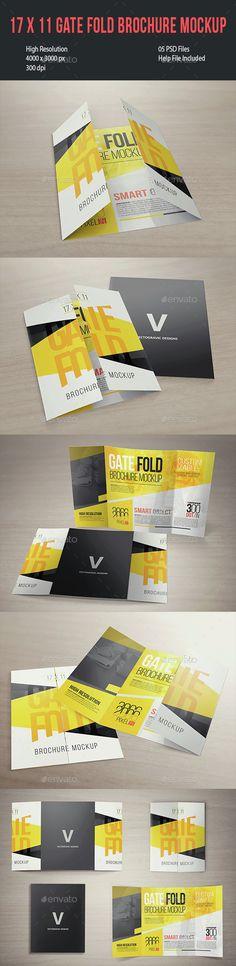 Free Large Tri-Fold Brochure Mockup PSD FREE MOCKUPS Pinterest - gate fold brochure mockup