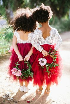 sweet lace and tulle flower girl dresses