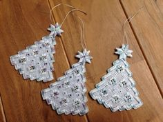 Hardanger Christmas Tree Ornaments @pokapokahouse