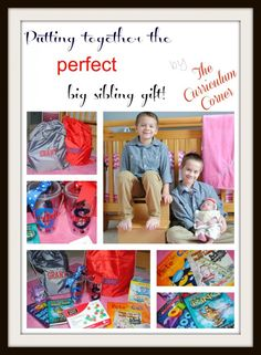 Putting Together the Perfect Big Sibling Gift by The Curriculum Corner - ideas for what to include in a big sister or big brother gift from your new arrival.