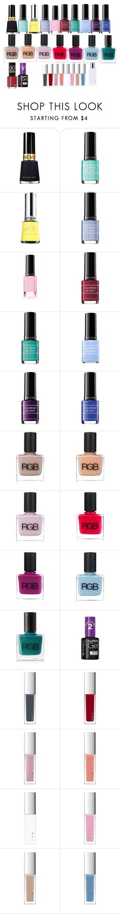 """revlon,rgb,rimmel,rmk"" by azra-99 on Polyvore featuring beauty, Revlon, RGB Cosmetics, RGB, Rimmel and RMK"