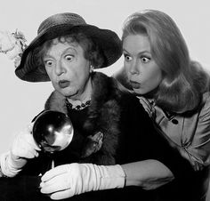 Marion Lorne and Elizabeth Montgomery - one of my favorite photos of all time.