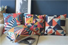 Decorative Throw Pillow Cover Abstract set by Welovehome on Etsy, $15.99