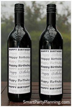 Printable Happy Birthday Wine Labels #Printable #Wine