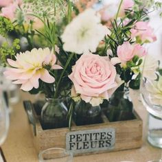 Rustic wedding flower idea