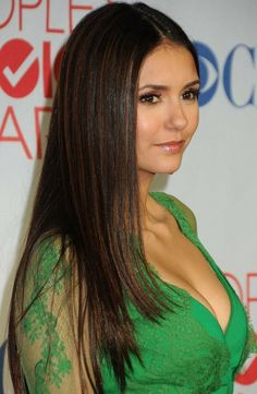 Nina Dobrev Straight Layers Hairstyle For Long Hair