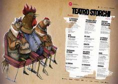 Il manifesto di #ericailcane per la Stagione teatrale 2008-09 del #Teatro #Storchi di #Modena