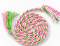 Pink & Green jump rope from TheJumpRopeGirls on etsy