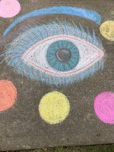Eye see you Sidewalk Chalk, Chalk Art, Art Drawings, Kids Rugs, Eye, Decor, Decoration, Kid Friendly Rugs, Sidewalk Chalk Paint