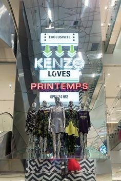 The Kenzo pop-up store at Printemps [Photo by Pessina Massimo]