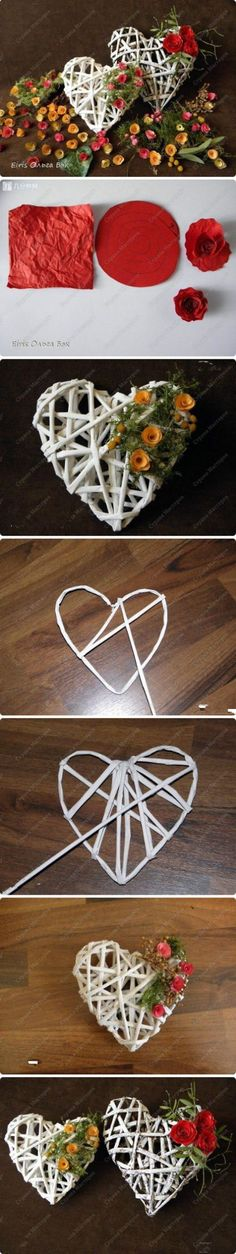 How to make a rattan / willow / soft wood heart.