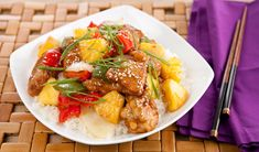 Sweet & Sour Pineapple Pork - Made with fresh pineapple, this sweet and sour pork stir-fry is a classic take-out favourite that's easy to make at home. Primal Recipes, Fodmap Recipes, Pork Recipes, Asian Recipes, Healthy Recipes, Ethnic Recipes, Chinese Recipes, Diabetic Recipes, Healthy Meals