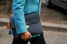#Hermès Leather Briefcase