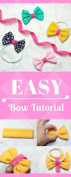 Grab this quick and easy hair bow tutorial and make some cute bows for the little girls in your life. It's fast, it's easy-a great way to use fabric scraps!