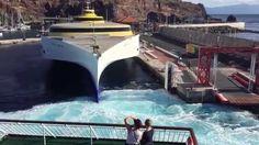 Docking for a tour in the harbour of San Sebastian de La Gomera