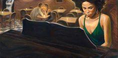 Mark Keller | American Figurative painter | Echoes of a melody | Tutt'Art@ | Pittura * Scultura * Poesia * Musica |