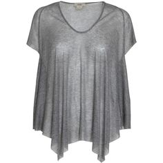 Helmut Lang Oversize rib T-shirt ($79) ❤ liked on Polyvore featuring tops, t-shirts, shirts, haut, remeras, greymelange, ribbed tee, helmut lang t shirt, rib tee and over sized t shirt