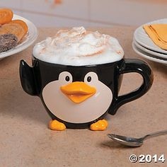"Jumbo 16"" Ceramic Penguin Mug Party Supplies Canada - Open A Party"