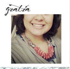 A nossa querida Susana começou o dia, a arrasar com o seu colar Gratia. Linda**~~   Já fizeram a vossa encomenda?