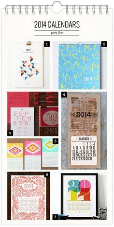 2014 Calendars, Part 5