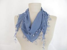 chiffon scarf  Oya Scarf scarf fashion  scarf by asuhan on Etsy, $20.00