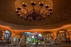 bride and groom table view